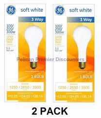 100 200 300 light bulb lot of six 6 vintage ge mogul base 3 way light bulbs 100 200 300