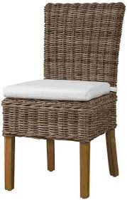 wicker dining room chairs rattan dining chairs for creative look exist decor