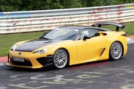 lexus supercar lfa lexus lfa nürburgring pursuitist