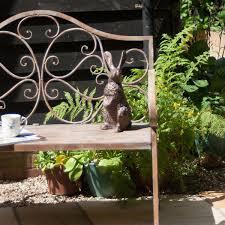 rabbit garden rabbit garden ornament bronze garden rabbit sculptures candle