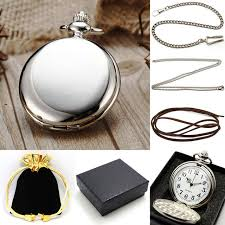necklace pendant gift box images Steampunk pure silver pocket watch chain necklace pendant gift box jpg