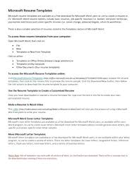 resume templates using wordpad for resume template resume template for wordpad