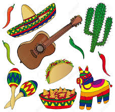 set of various mexican images vector illustration royalty free