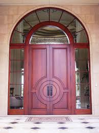 furniture custom solid double wood entry door design with frosted