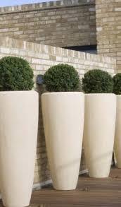white tall planters 6350