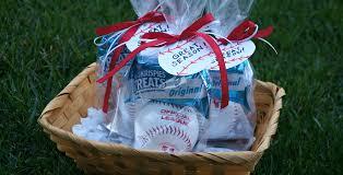 Baseball Gift Basket Play Ball Easy Diy Baseball Favors For Kids With Rice Krispies