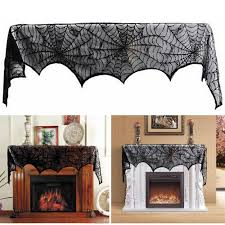 halloween table cover popular black lace tablecloth round buy cheap black lace