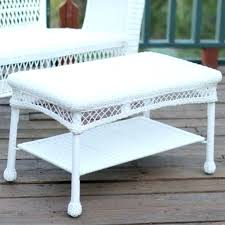 side table white wicker side table medium size of outdoor living