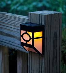 findway outdoor solar powered deck accent light sensor fence wall
