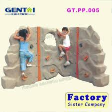 outdoor kids plastic rock climbing wall backyard rock climbing