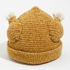 knit turkey hat the green head