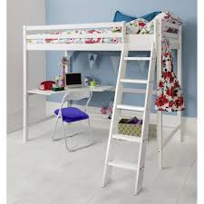 White High Sleeper Bed Frame White High Sleeper Cabin Bed With Desk Noa Nani