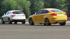 maserati bmw battle bmw x6m e71 vs maserati levante s at top gear youtube