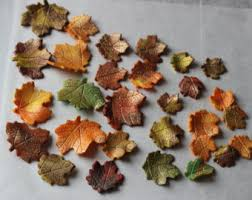 Fall Cake Decorations 12 Wafer Paper Maple Leaves Edible Leaves For Autumn Baking