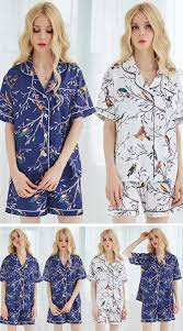 set of 10 satin bird inexpensive pajamas