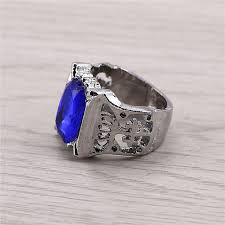 aliexpress buy mens rings black precious stones real j store free shipping black butler ciel phantomhive blue precious