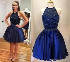 6 grade graduation dresses 2017 beaded haiter sleeveless dresses sweety modern