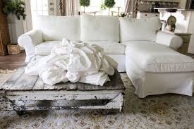 White Slipcover Sofa by How The Heck I Maintain White Furniture With Four Kids A Review