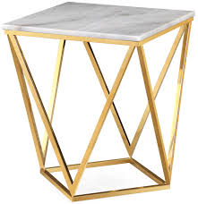 Marble Side Table Leopold White Marble Side Table From Tov Coleman Furniture