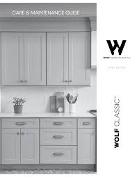 used kitchen cabinets york pa wolf classic cabinetry care maintenance guide