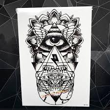 aliexpress com buy fashion big size fake black tattoo god eye