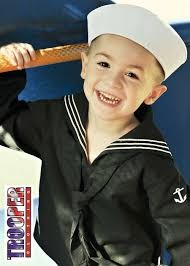 Kids Military Halloween Costumes Army Navy Uniforms Children Kids Cracker Jack Style Sailor
