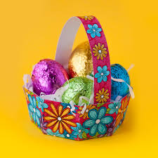 easter egg basket free diy easter egg basket template clark coloring