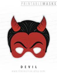 halloween mask printable mask devil mask satan red devil