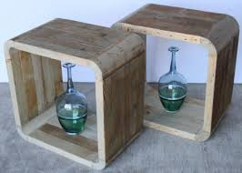 wood cube end table open wood cube end table