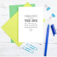 Congratulations On Engagement Card Congratulations On Finding The One U2026 U0027 Engagement Card By Paper