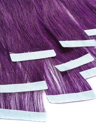 Ombre Hair Extensions Tape In by 24 Inch Elegant Purple Tape In Hair Extensions Straight 10pcs