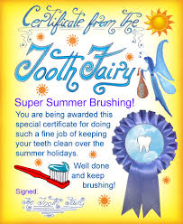 tooth fairy certificate super summer brushing rooftop post