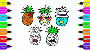 how to draw coloring pages pineapple colour book video painting
