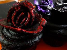 cupcake ideas for halloween party velvet rose black halloween cupcakes