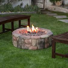 Outdoor Firepit Kit Pit Kit Gas Table Home Depot Stones Wood Burning