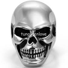 steel skull rings images New super hot biker punk jewelry 316l stainless steel skull rings jpg