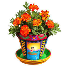 Flower Pots - crafty chica loteria flower pot ilovetocreate
