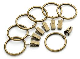 2 Inch Curtain Rings With Clips by Iron Metal Curtain Clip Rings 1 1 2 Inch Interior Diameter 50