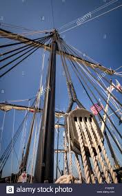 main mast and rigging on a replica of christopher columbus u0027 ship