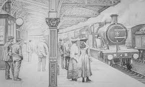 realistic pencil art from john s gibb victoria station boats