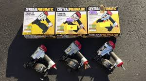 Central Pneumatic Staples by Comparison Of 3 Harbor Freight Central Pneumatic Roofing Nailers