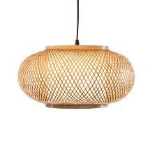 Woven Pendant Light Roshni Woven Bamboo Pendant L Modish Store