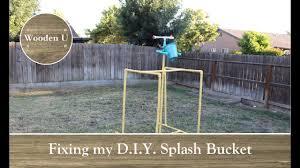 fixing my d i y splash bucket wooden u youtube