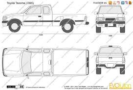 toyota tacoma dimensions car models