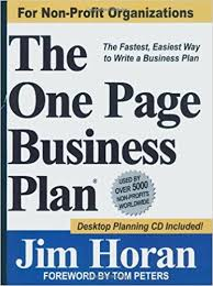 Free Non Profit Business Plan Template by The One Page Business Plan For Non Profit