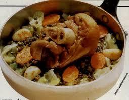 cuisiner les lentilles vertes recette jarret de porc aux lentilles vertes du puy