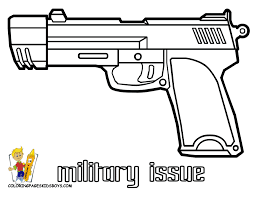 gun coloring pages free printable orango coloring pages