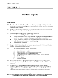 whittington audit chapter 17 solutions manual auditor u0027s report