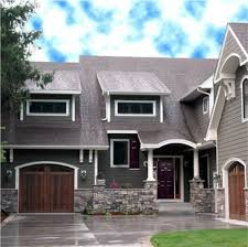 exterior house colors dark grey house with white trim wooden