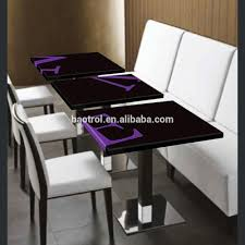 cream marble top japanese dining table engineered stone aluminium
